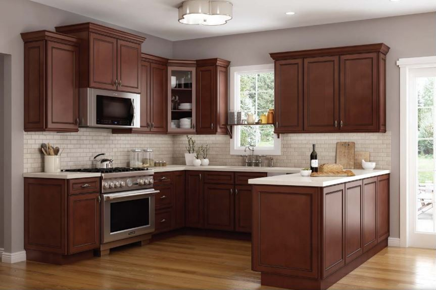 Cambridge Chocolate Kitchen Cabinets Traditional Kitchen Design