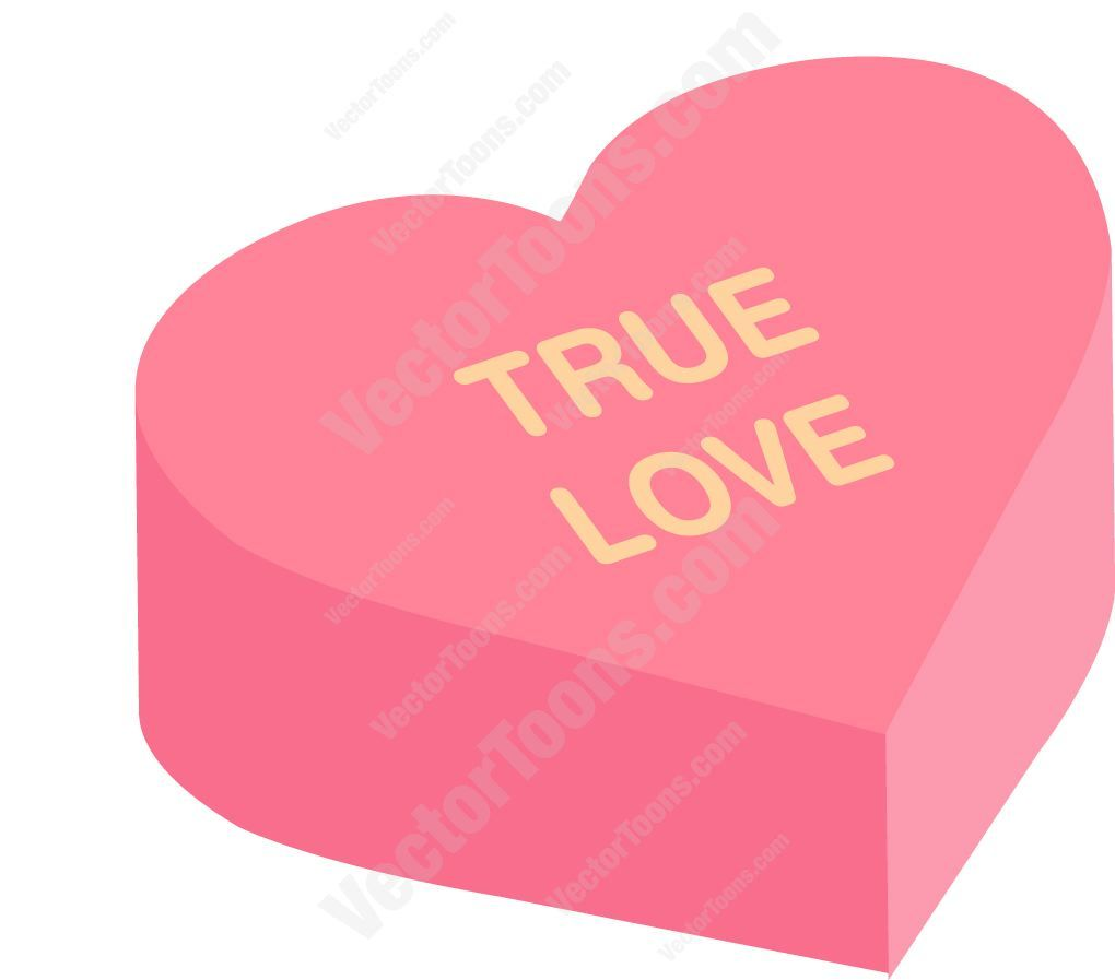True Love Heart Shaped Candy | Heart shaped candy, Heart candy, True love