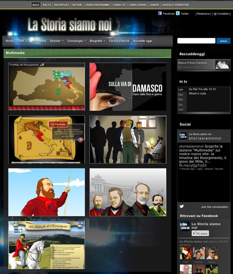 """Sul nuovo sito di """"La Storia siamo noi"""" (@storiasiamonoi on Twitter), la sezione """"Multimedia"""": timeline del Risorgimento e molto altro ancora... #perimieialunni (clic per collegarti)"""