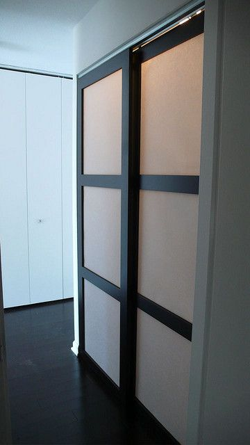 Custom Made Sliding Shoji Closet Doors With Synskin Panels Doors