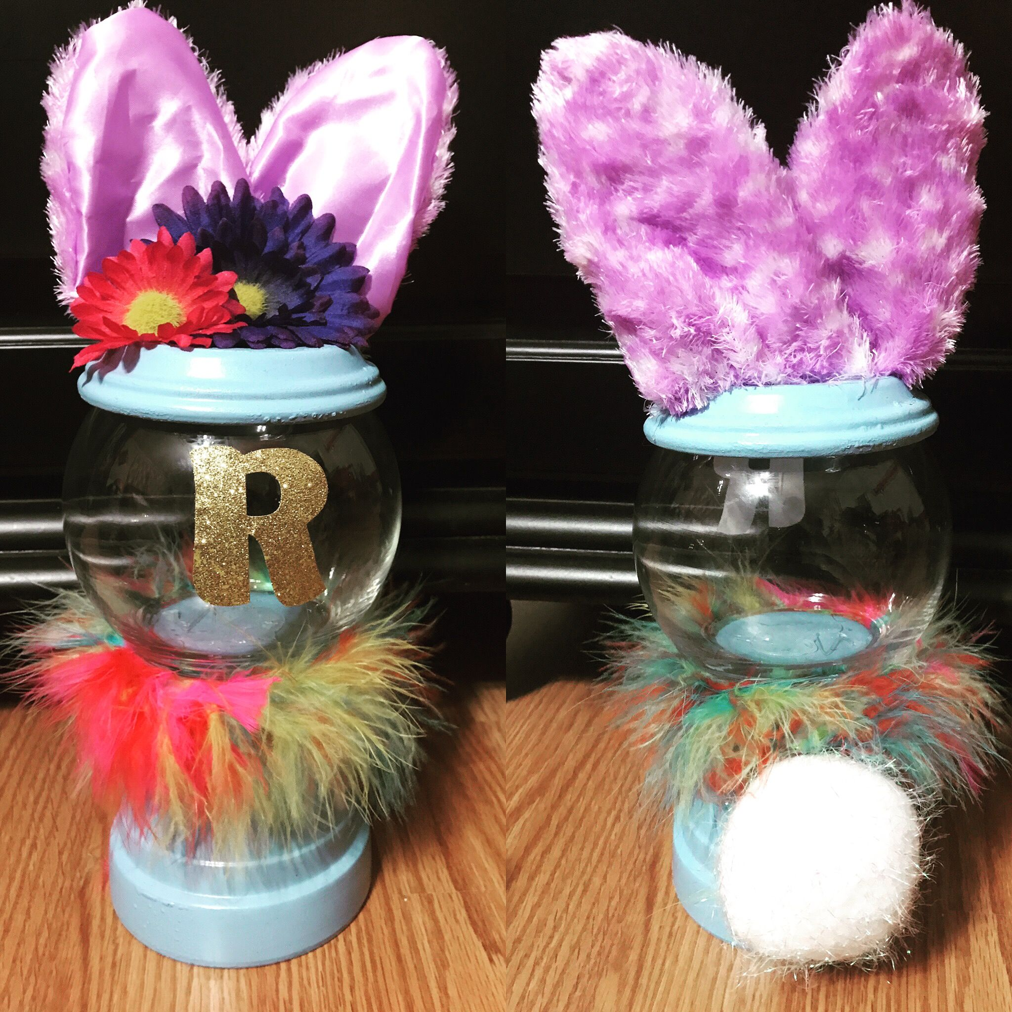 Home Craft Ideas Easter Bunny Flower Pot Craft Flower Pot: Easter Bunny Inspired Gumball Machine With Clay Pots