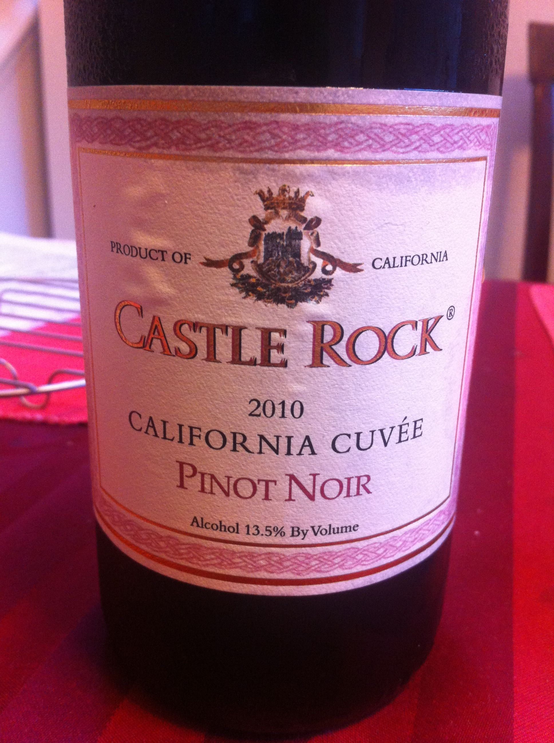 Castle Rock Pinot Noir 10 99 From Whole Foods Hopes Its Good For A Low End Pinot Whole Food Recipes Wines Pinot Noir