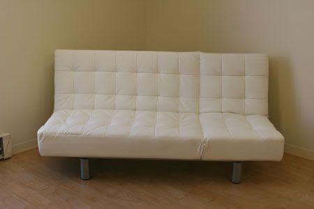 White Leather Futon Sofa Leather Futon Futon Sofa