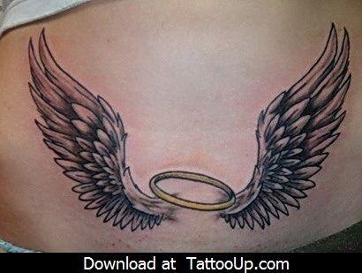free angel tattoo stencils | angel tattoo, angel tattoo desi… | Flickr