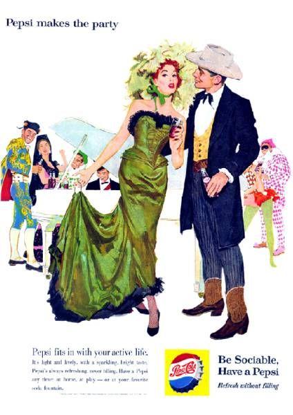 ●106F 1956年のレトロ広告 ペプシコーラ PEPSI_画像1