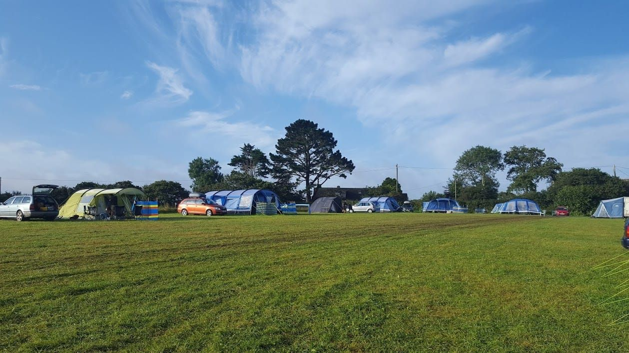 Camping Near the Helford River in Cornwall River, Local