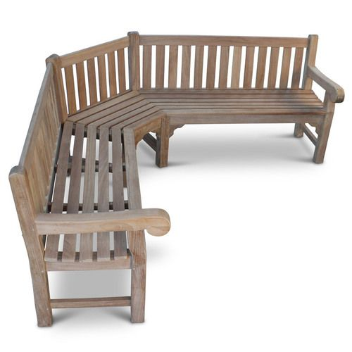 A Large 7 Seater Teak Garden Bench In An L Shape Very Strong Free Uk Delivery