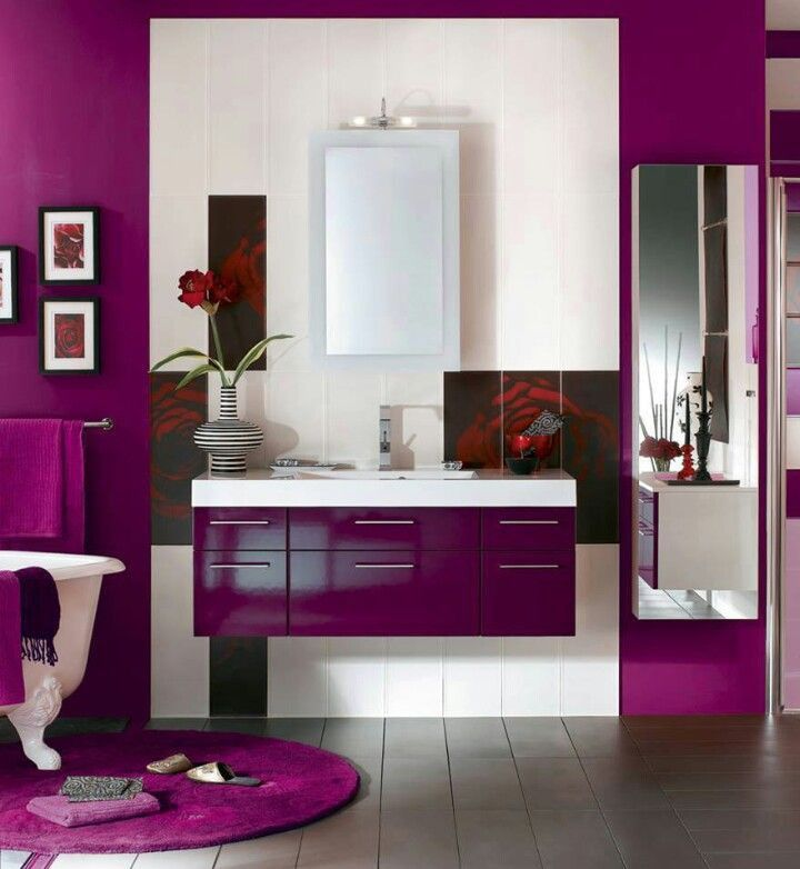 Radiant Orchid Color Of The Year 2014 Purple Bathroom Decor Purple Bathrooms Bathroom Decor