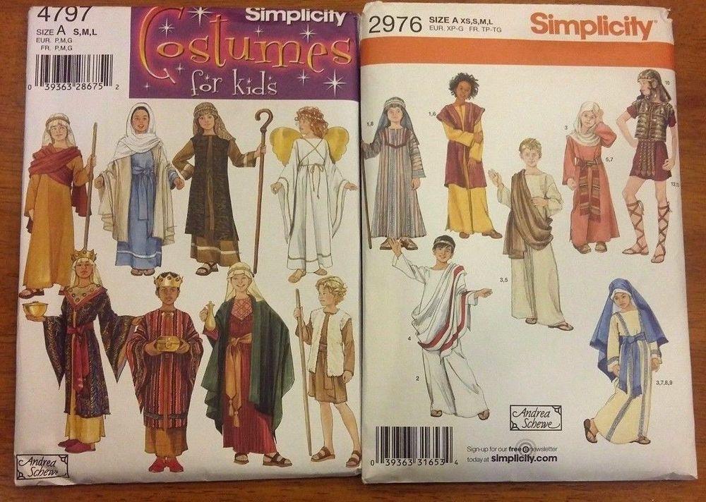 New NIP Simplicity Costume Kids Pattern Lot 4797 & 2976 #Simplicity