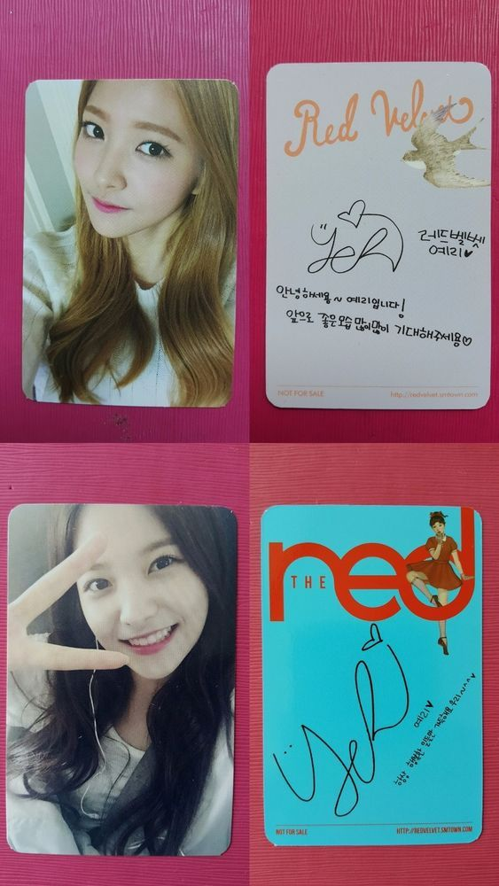 Details About Red Velvet Yeri 2pcs Official Photo Card Ice Cream