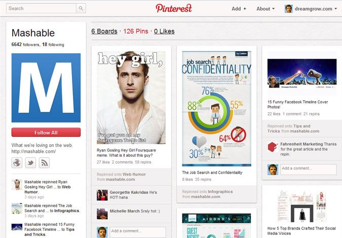 41 Great Examples of Pinterest Brand Pages Sny - sample facebook timeline