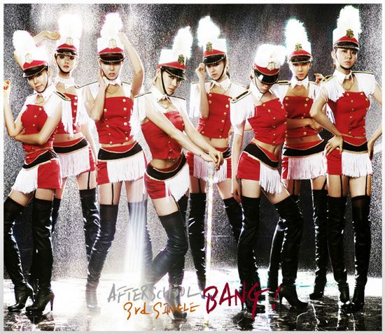 Korean pop group After School 3rd single Bang