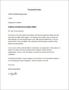 Employment Termination Letter Download At HttpWwwTemplateinn