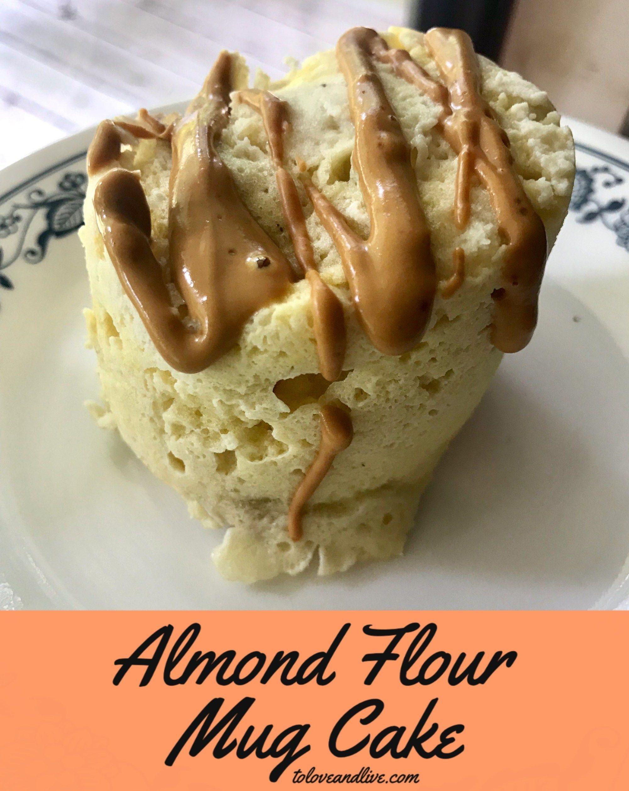 Almond flour mug cake mugcake almond flour mug cake