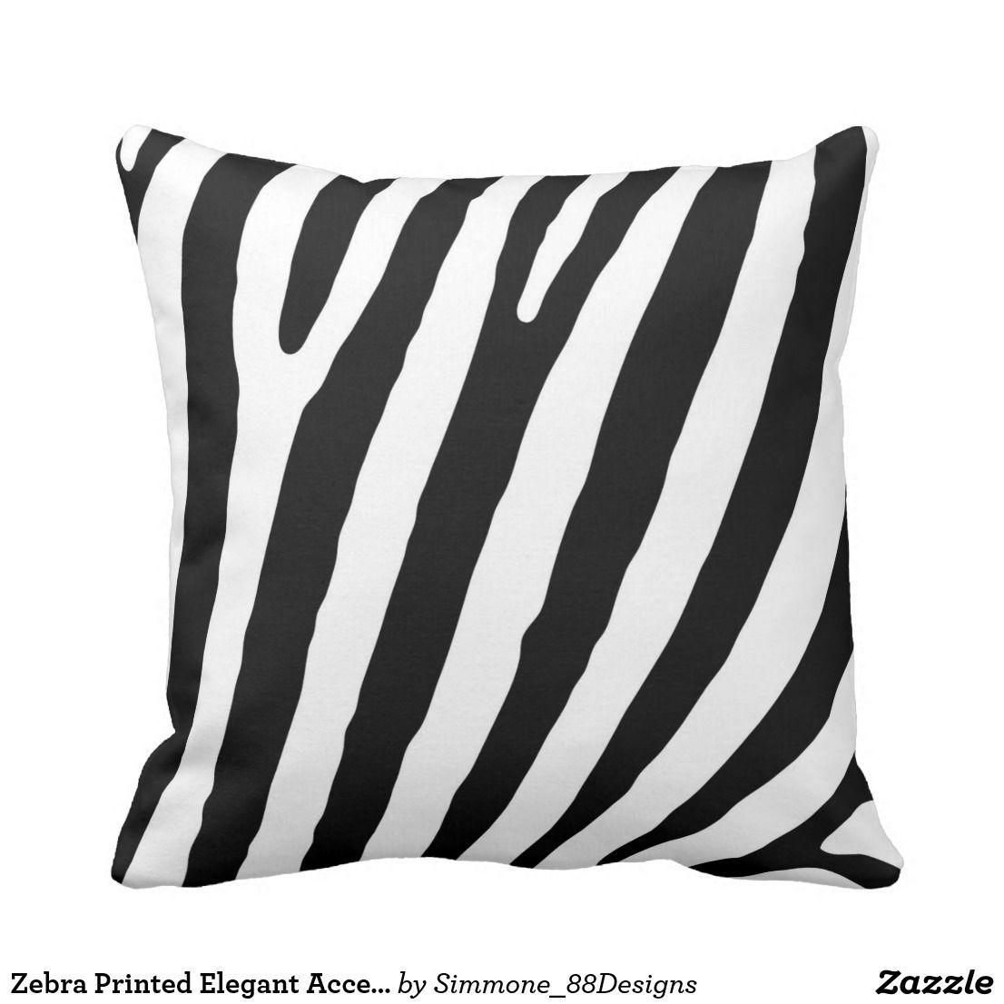 Zebra printed elegant accent couch cushion zebra print elegant