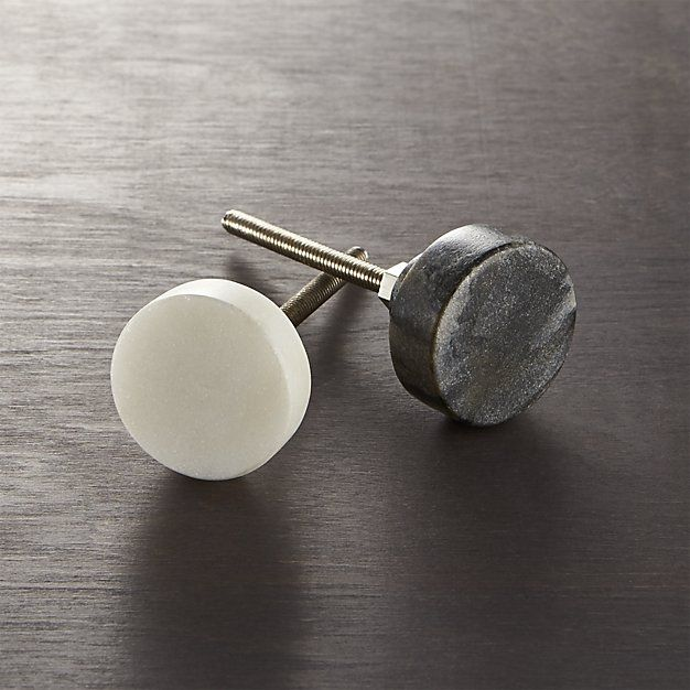 Marble White Disk Drawer Pull Hardware Sources Drawer Pulls
