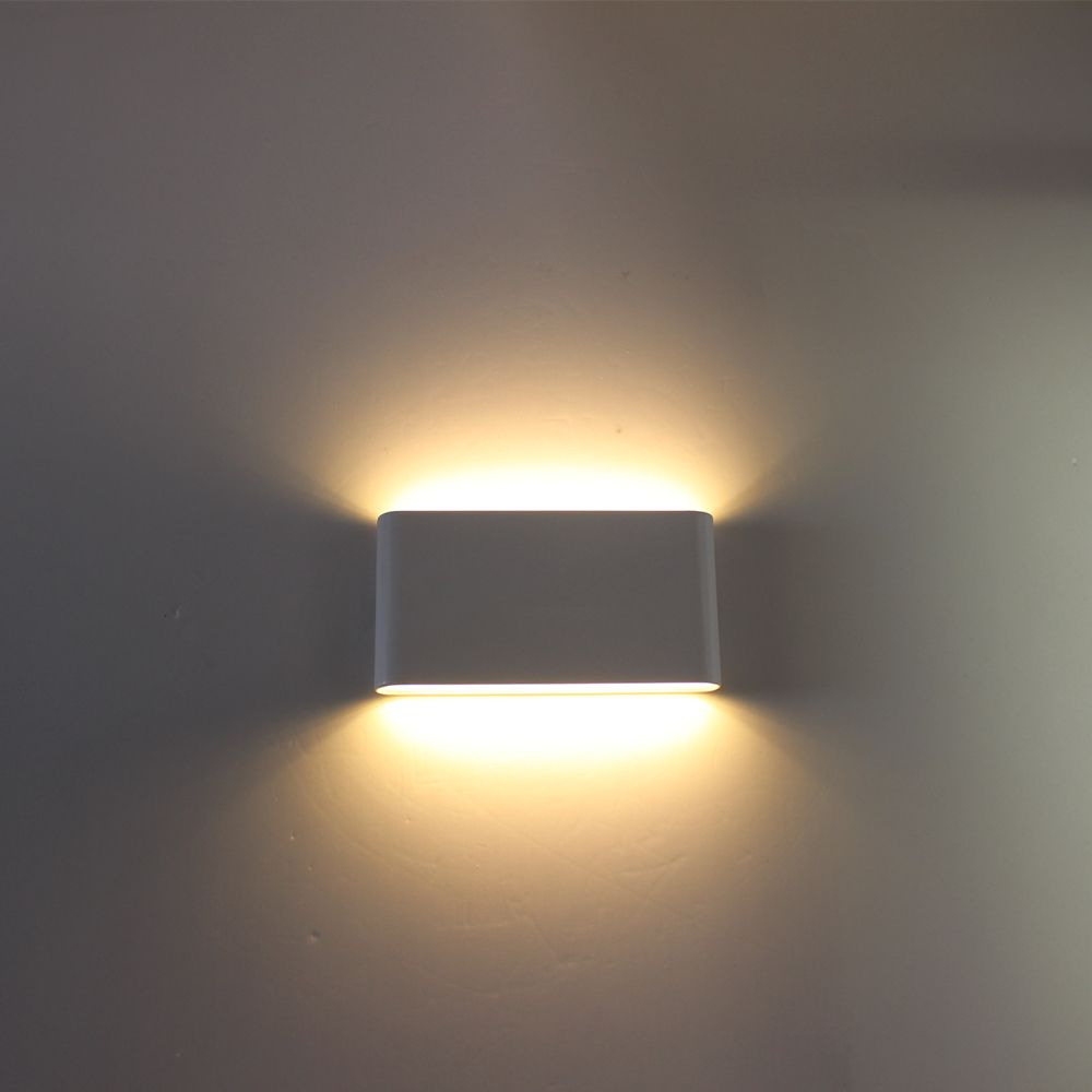 New Falcate 12w Led Outdoor Wall Light Ip65 Waterproof Wall Lamp Garden Lights Led Wall Sconce Up Down Lighting Zbd000 Outdoor Wall Lamps Wall Lamp Wall Lights