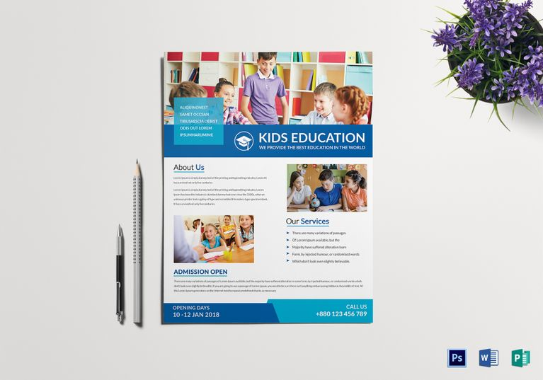 School Tutoring Flyer  Design Flyer Templates    Flyer