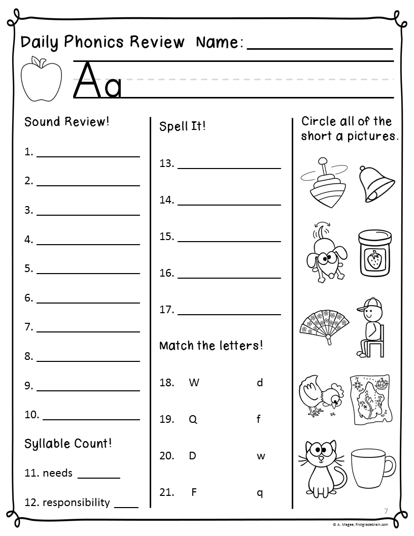 first grade reading worksheets HD Wallpapers Download Free first grade  reading worksheets…   Phonics worksheets free [ 1056 x 816 Pixel ]
