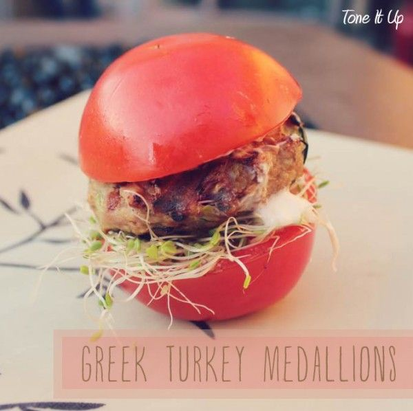 Greek Turkey Medallions with Dill Yogurt Sauce!