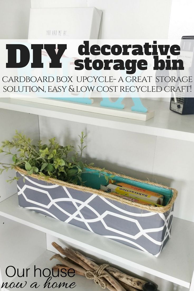Cardboard Storage Box Decorative Diy Decorative Storage Bin  Cardboard Box Upcycle  Decorative