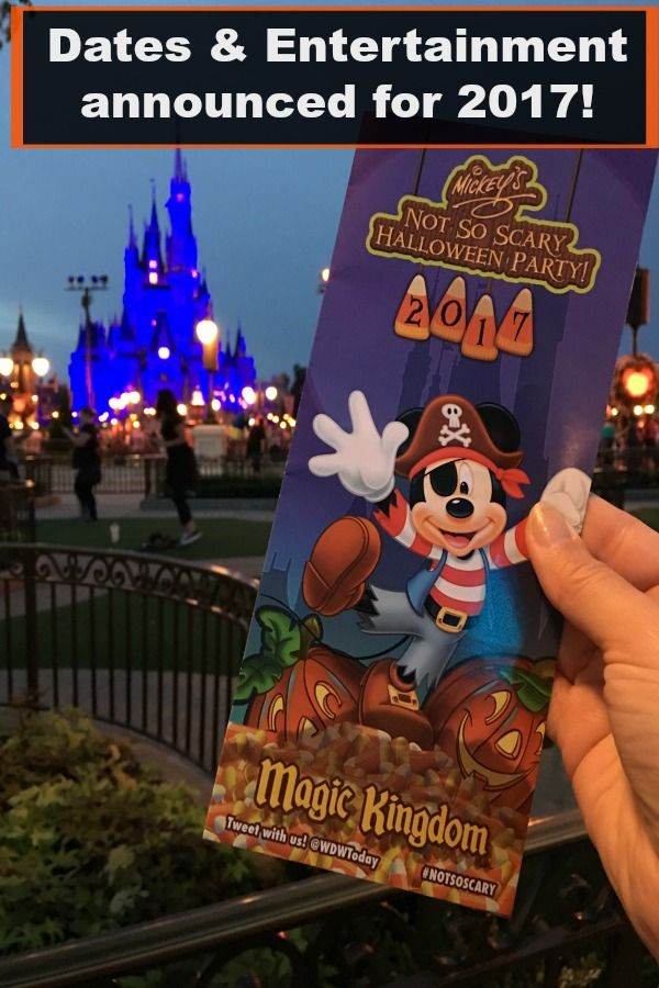 2017 Mickey's Not-So-Scary Halloween Party at Disney World: Dates ...