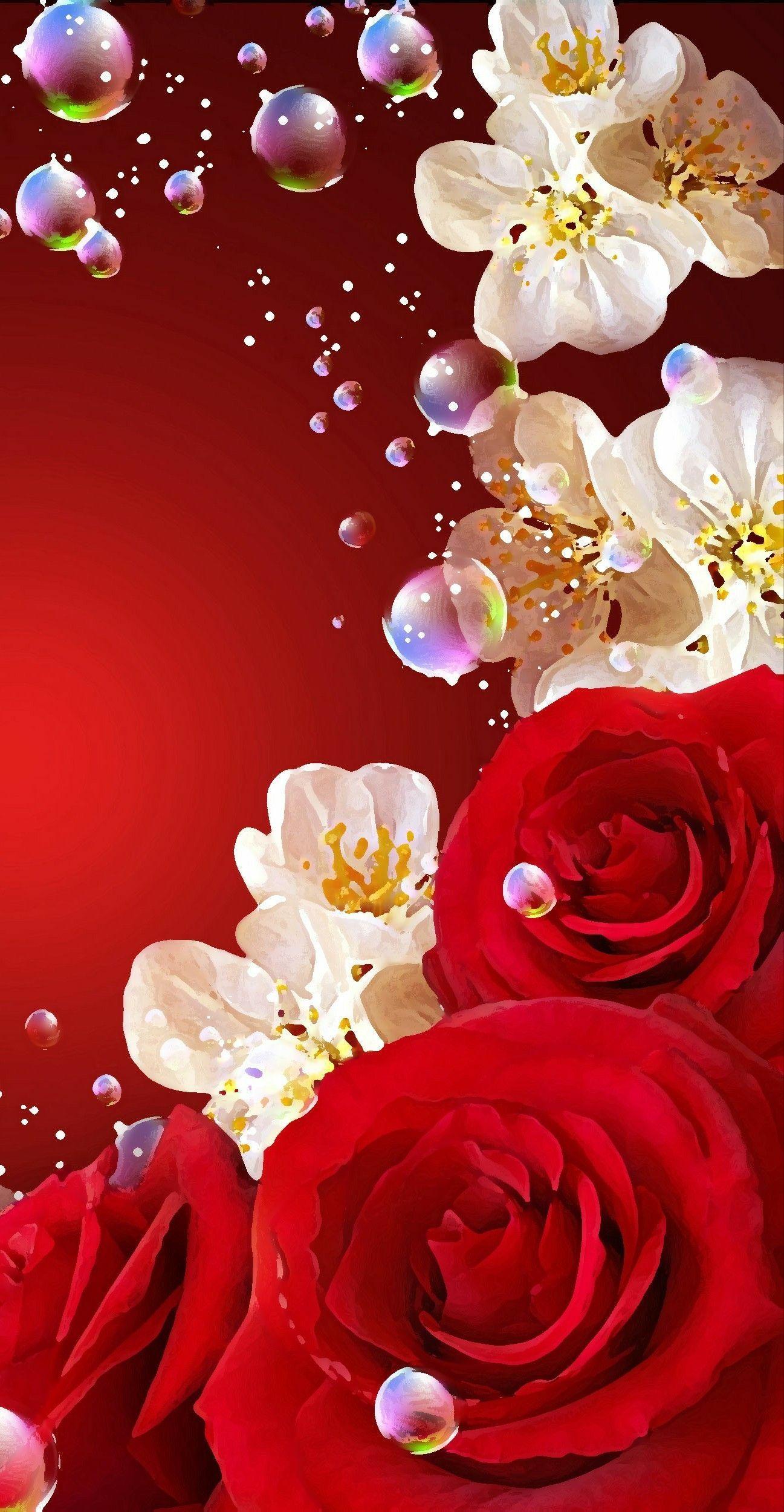 Wallpaper By Artist Unknown Flowery Wallpaper Rose Wallpaper Rose Flower Wallpaper