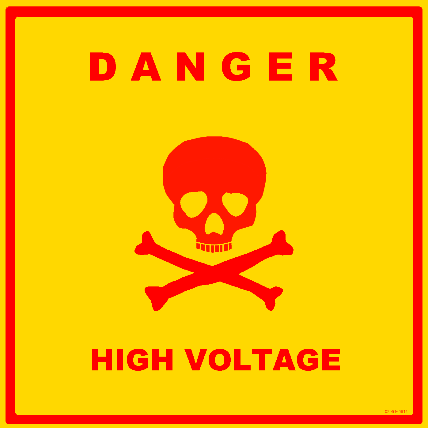 Science laboratory safety signs high voltage and safety high voltage sign this sign warns of a high voltage hazard buycottarizona Images