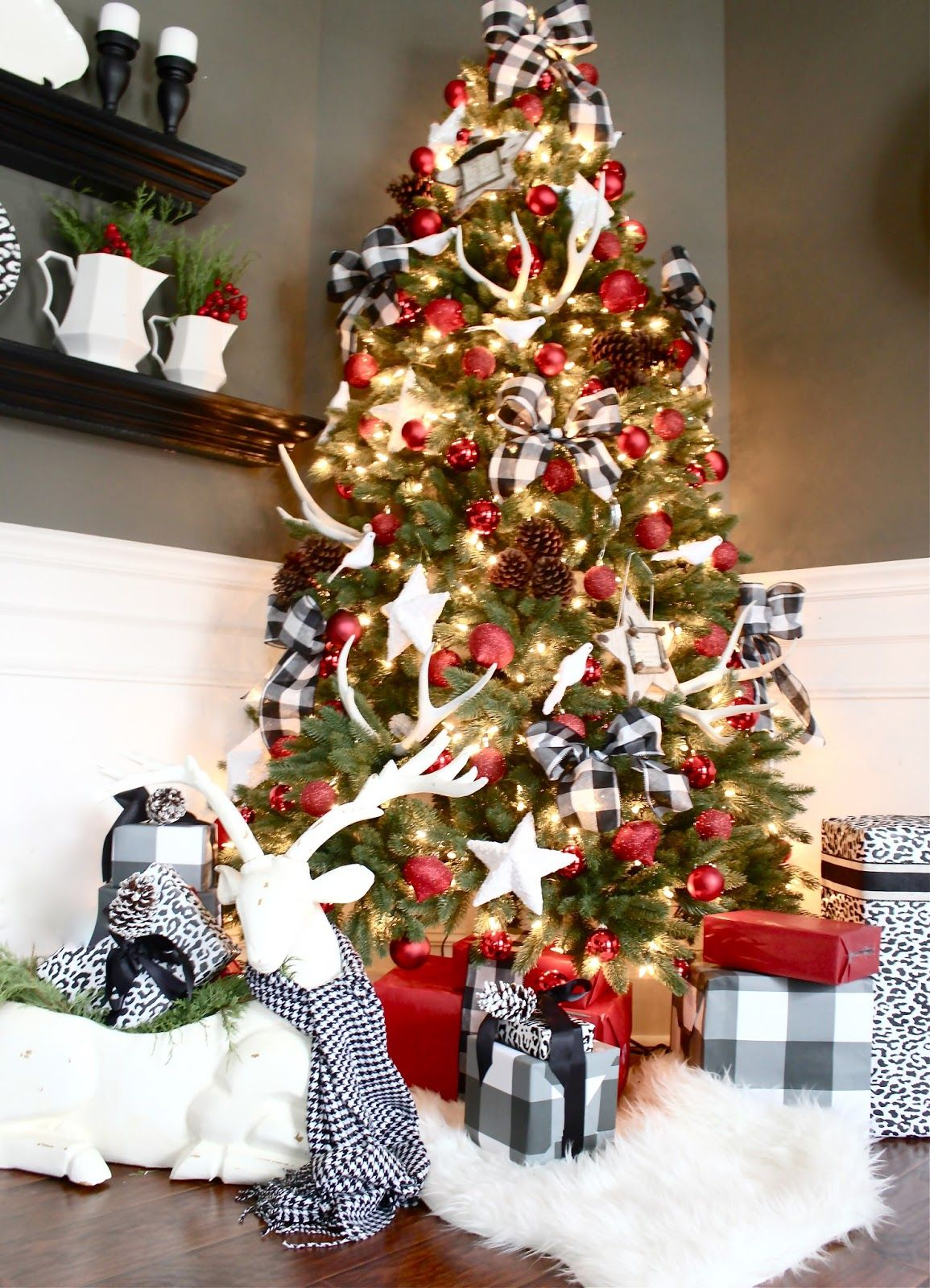 buffalo check christmas style series full of decor inspiration ideas and decor finds to add the classic fun feel of buffalo check to your christmas - Red And Black Plaid Christmas Decor