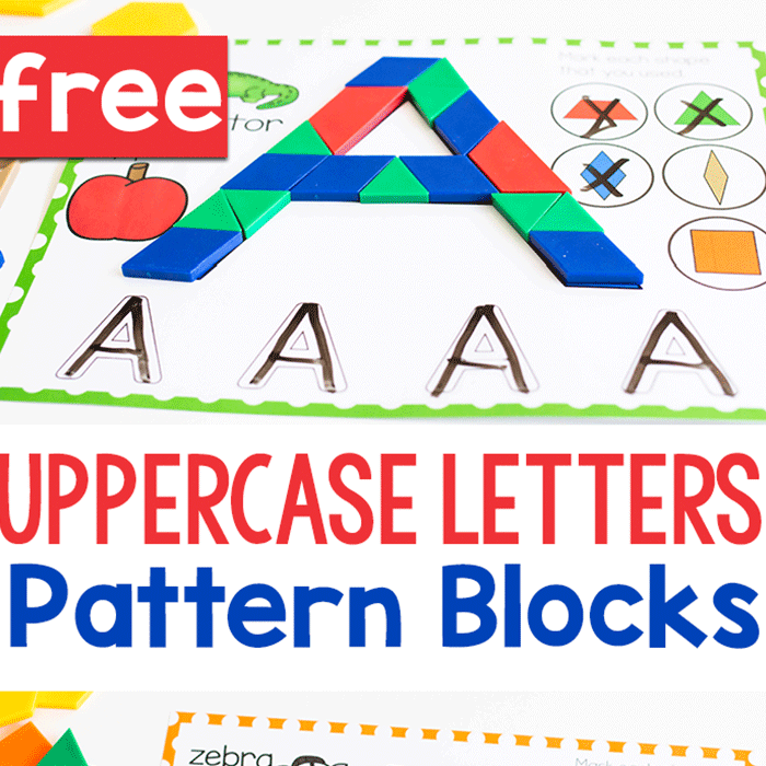 Free Printable Uppercase Alphabet Pattern Block Mats With Images Pattern Blocks Alphabet Letter Recognition Letter Recognition