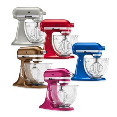 KitchenAid 5 Quart Artisan Stand Mixer Design Series Glass Bowl Toffee