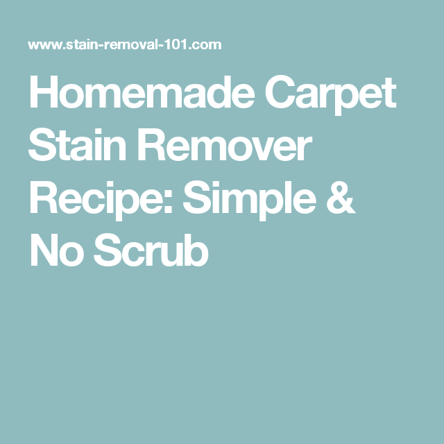 http://amzn.to/2ez8mtD Homemade Carpet Stain Remover Recipe: Simple