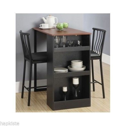 Kitchen Dining Set Counter Height Bar Stools Table Set Pub Style