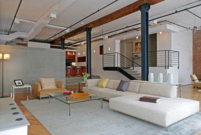 55 loft idées ultra modernes de déco industrielle et de luxe Math - deco maison ancienne avec poutre
