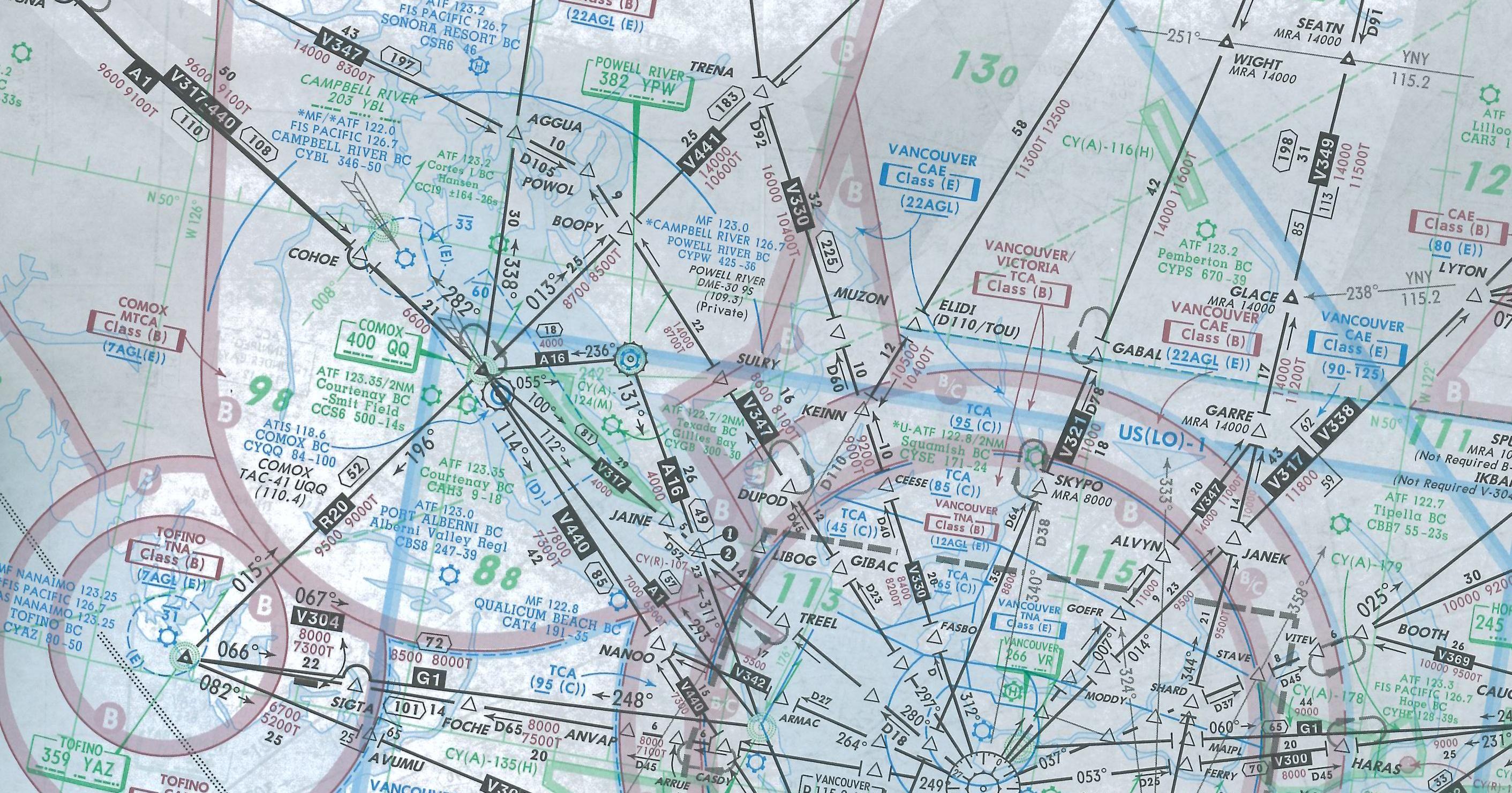 Room Mapper map room, ifr georgia strait, langley flying school | maps