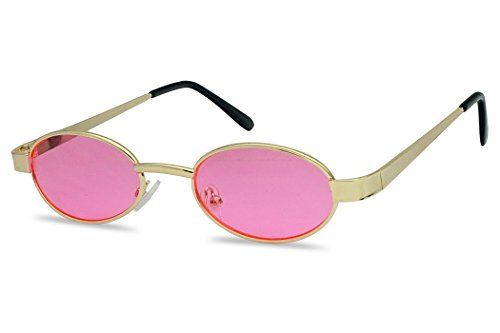 dd212bf4e5 SunglassUP Ultra Small Oval Vintage Sun Glasses Slim Retro Steampunk  Slender Candy Color Tinted Shades