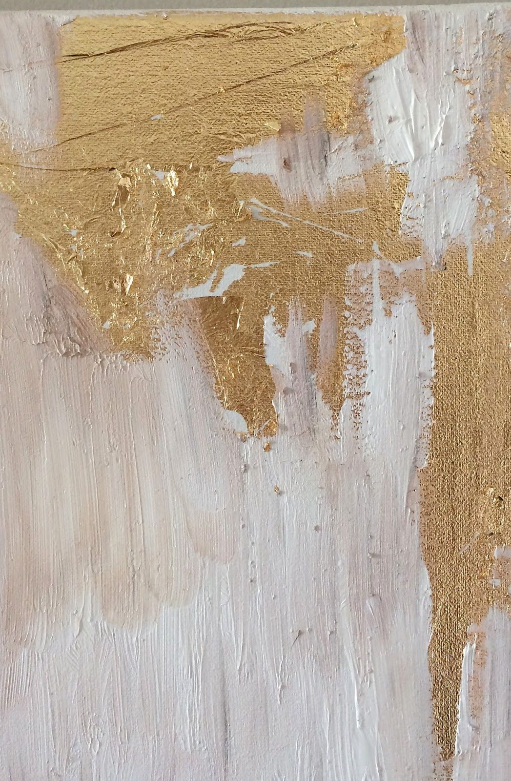 How To Make DIY Gold Leaf Abstract Art. LOVE this