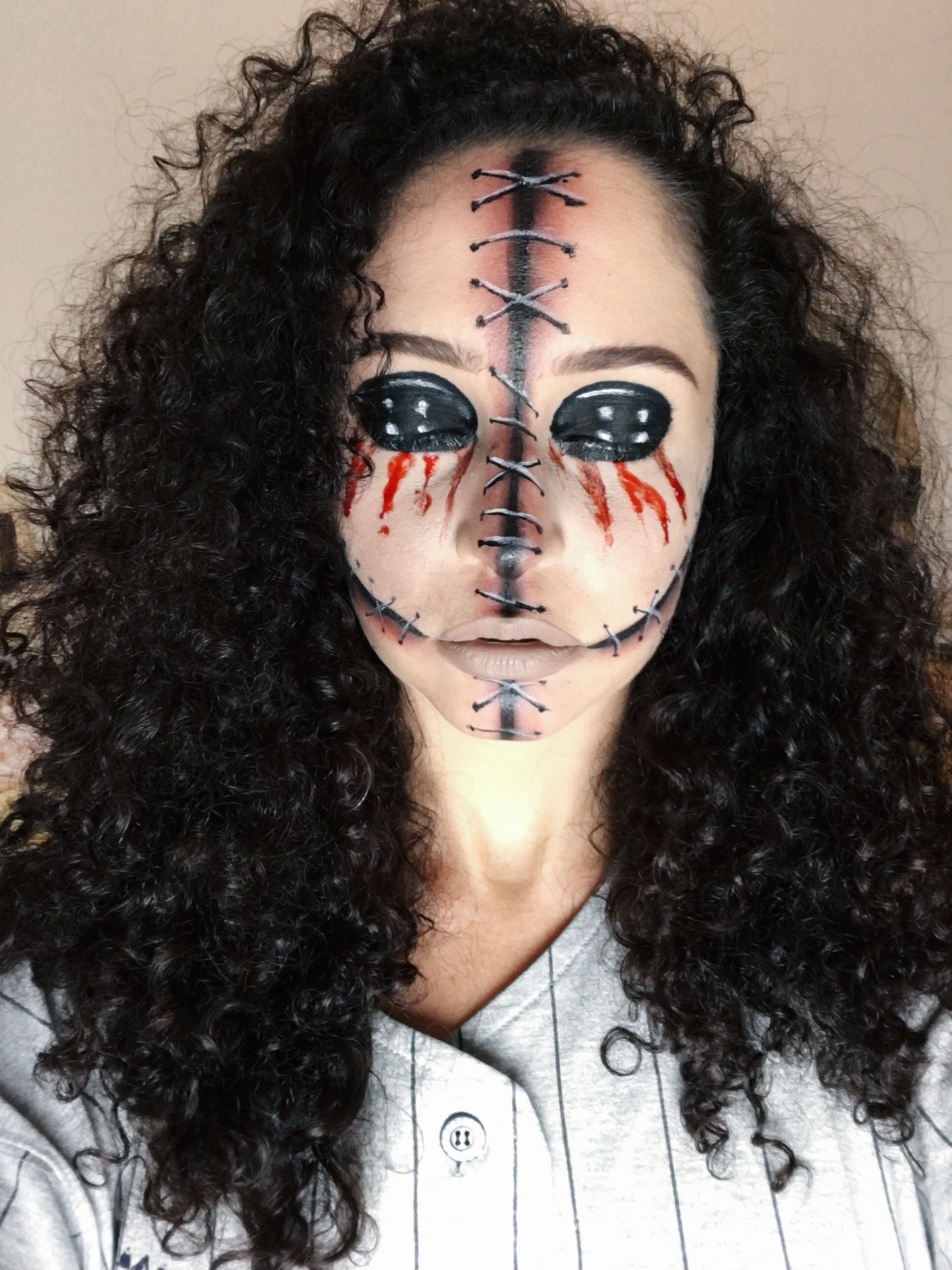voodoo doll halloween makeup | halowen | pinterest | halloween make