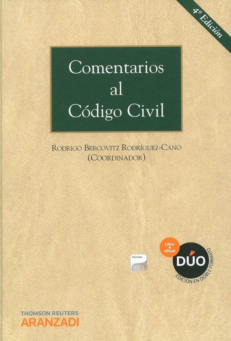 Comentarios Al C U00f3digo Civil    Rodrigo Bercovitz Rodr U00edguez