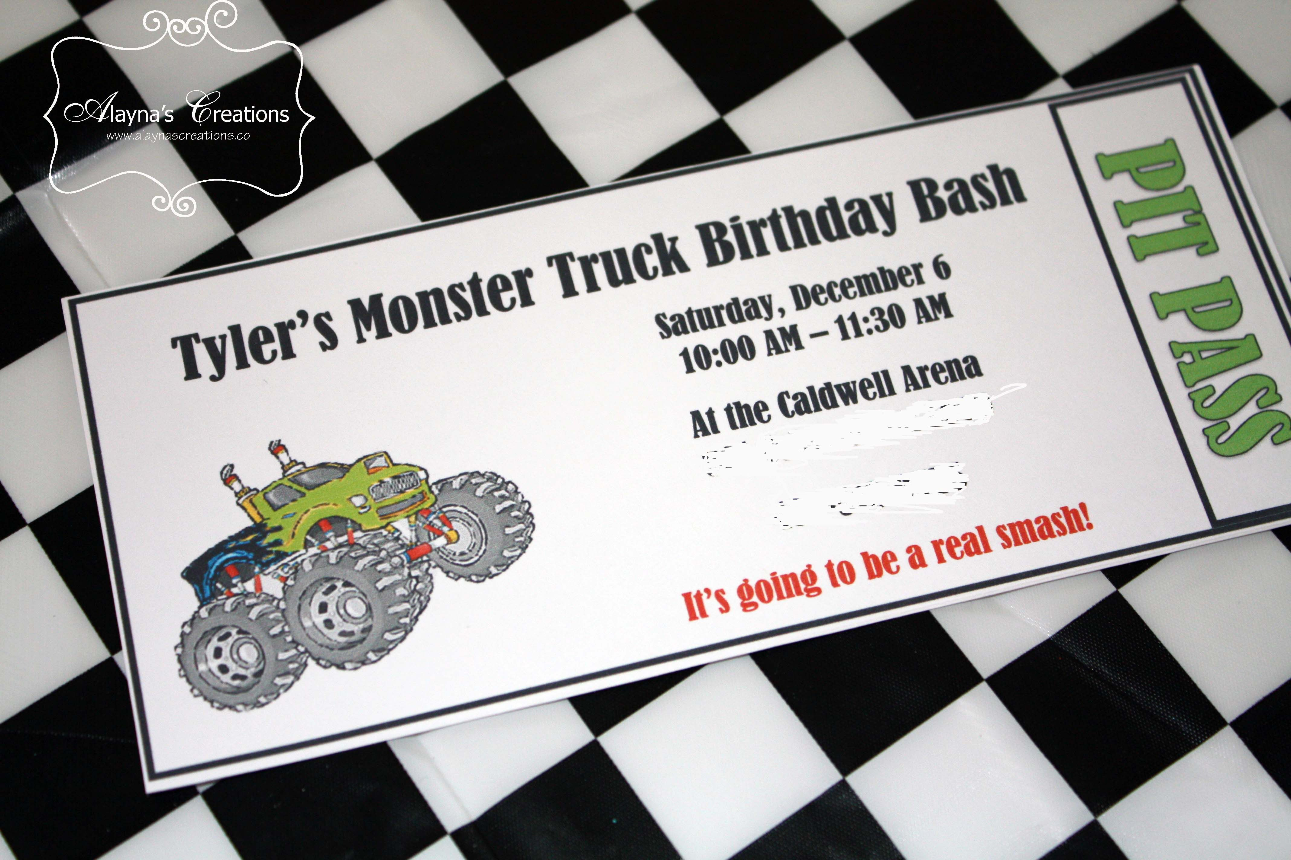Monster Truck Birthday Party | Pinterest | Monster truck birthday ...