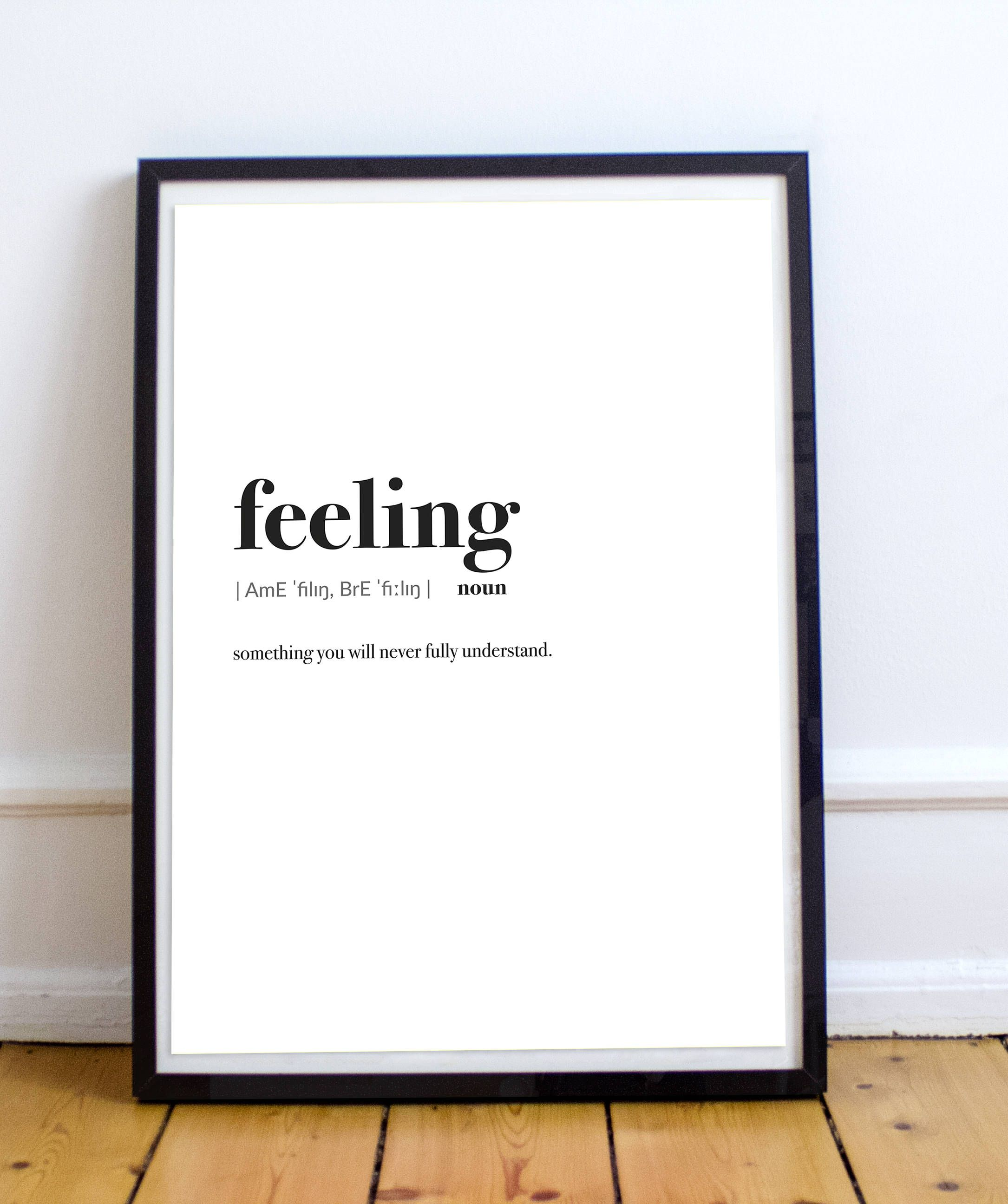 Quot Definition Feeling Wall Art Definition Wall Deco Decoration Prints