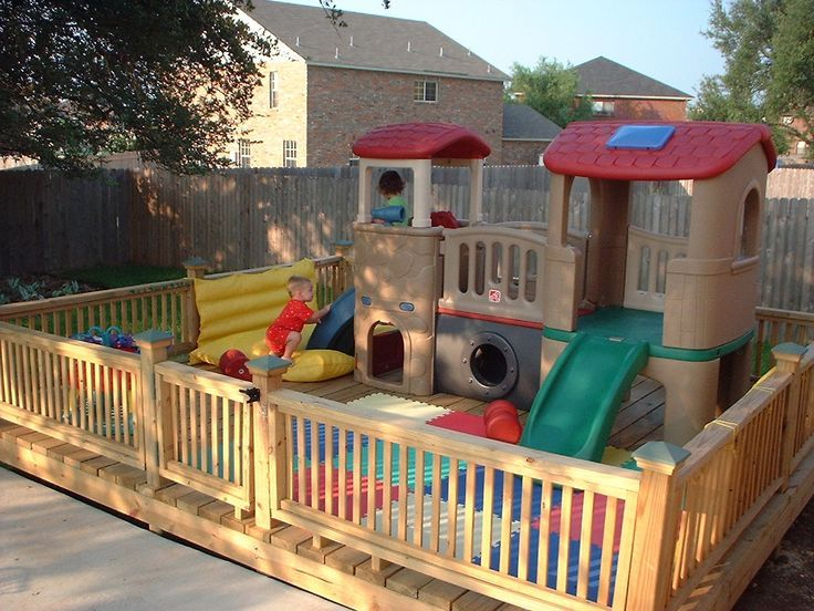 Image result for toddler playground fencing