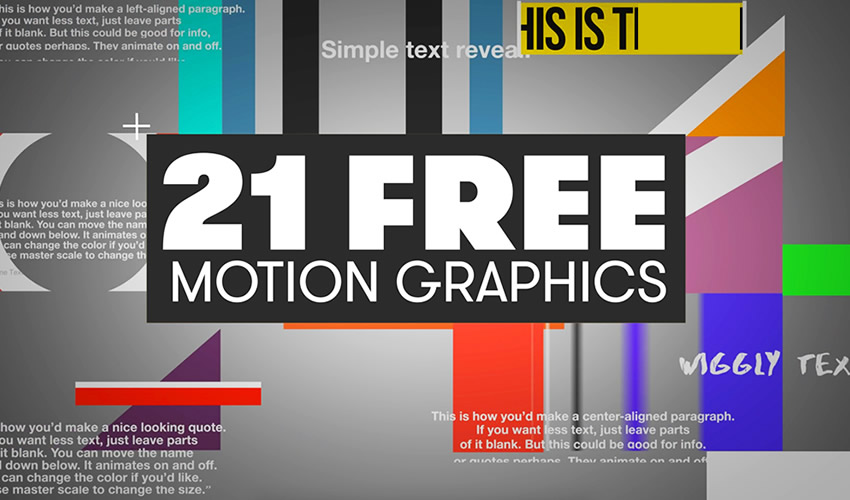 30 Free Motion Graphic Templates for Adobe Premiere Pro in