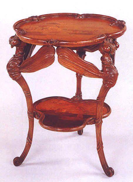 Emile Galle Table Les Libellules Hauteur 75 Cm 1900 C Musee De L Ecole De Nancy Mobilier De Salon Art Nouveau Mobilier