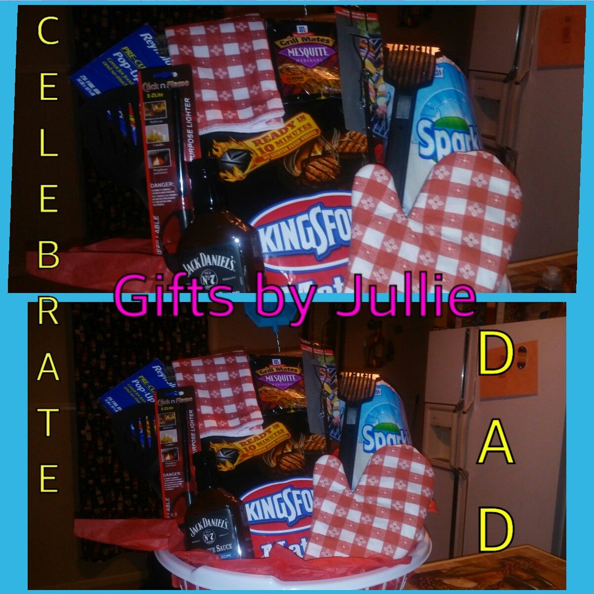 Fathers day barbecue griller gift basket for dads