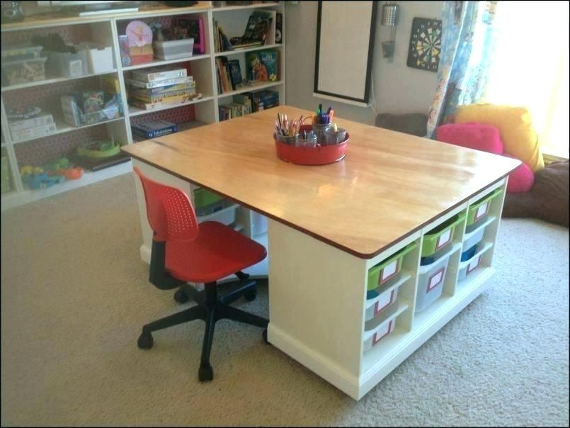 Large Craft Table With Storage Ruservice Info Craft Table Diy Craft Table Craft Tables With Storage