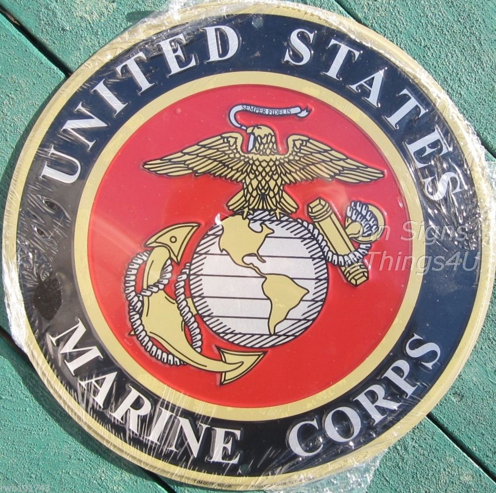 USMC Marine Corps Lapel Pin My Son is A Marine Round w Eagle Globe and Anchor