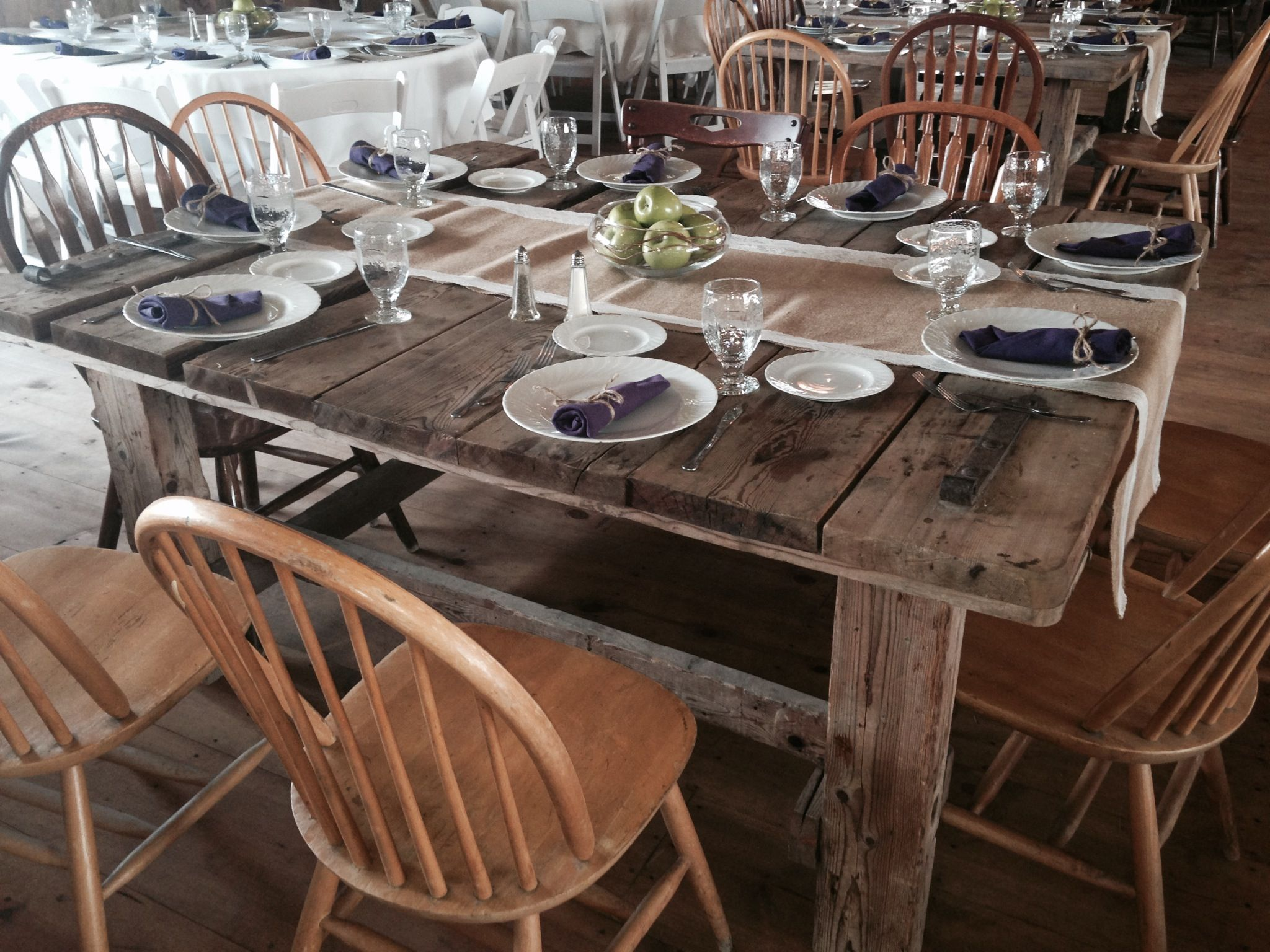 Wood Tables Setup For Family Style Dinner Table Rustic Dining