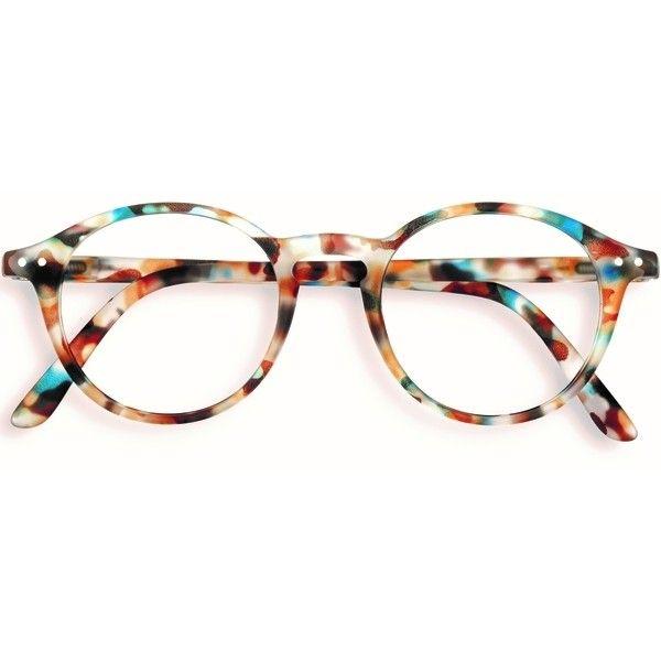 07de426e7c Stylish Izipizi Blue Tortoise Shell Rounded Reading Glasses ( 32) ❤ liked  on Polyvore featuring