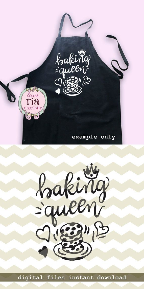 Baking Queen Fun Funny Home Bake Kitchen Homemade Cookies